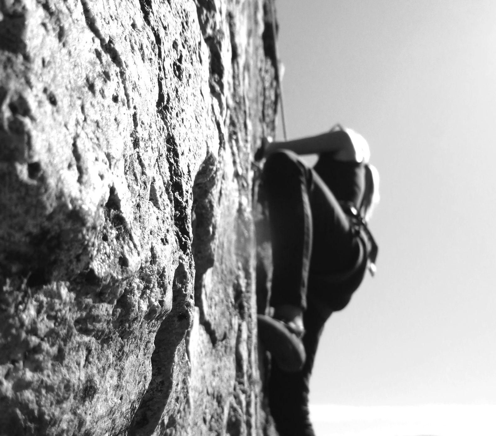Climbing releases endorphins thatmake me feel happy!